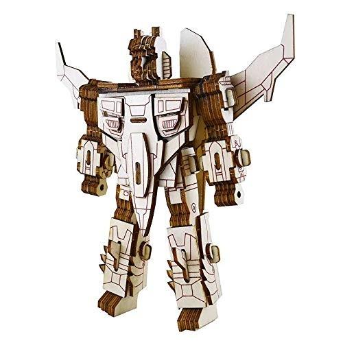 Robot Puzzles 3D Wooden Building Blocks Model Self-Assembly Craft Kit DIY Brain Teaser Toys Best Gifts for Women & Men Robot-4