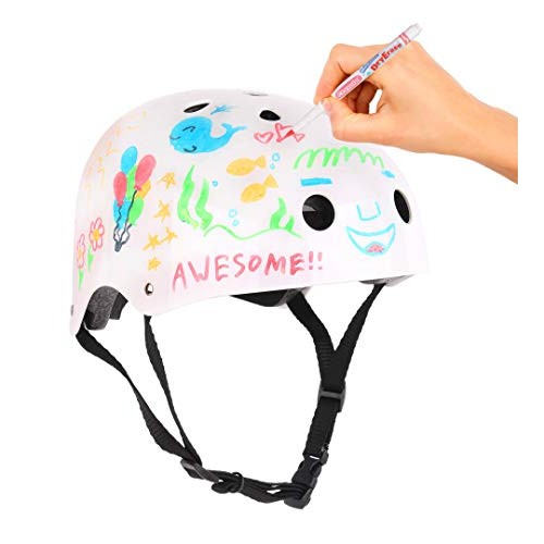 Crayola Kids Bike Helmet For Bike Scooter Skate Dry Erase Surface Markers Included CPSC