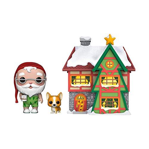 Funko 44423 POP Town Holiday-Santas House w Santa & Nutmeg Collectible Figure Multicolour Multicolor