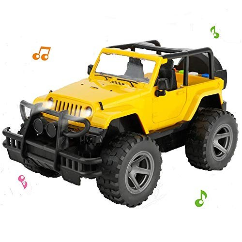 YesToys Car Toy Off-Road Military Fighter Friction Powered Toy Vehicle with Fun Lights &