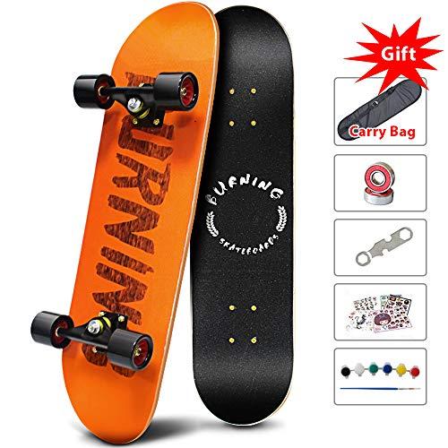 Easy_Way Complete Skateboards -Standard for Beginners Starter – 31''x 8''Canadian Maple Pro Cruiser Standard Skate Boards