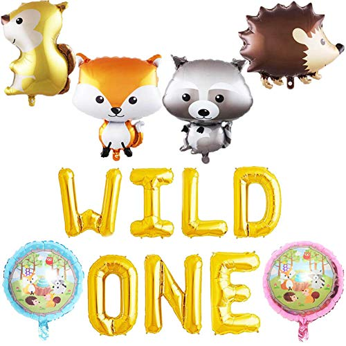 HEETON Wild One Balloons Woodland Fox Feather Arrow Teepee Boho Tribal Party Banner Baby Shower 1st Birthday Supplies Decorations