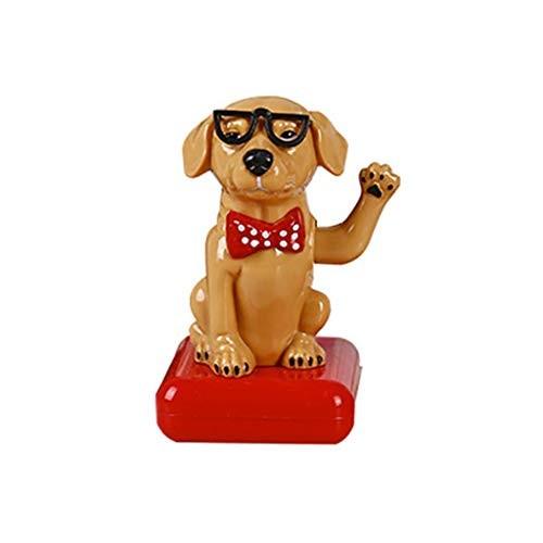 Solar Dancing Toys Dashboard Ornament – Pet Dog Animated Decoration Toy Light Powered Swinging for Car Windowsill Office Desk Home Decor Balcony Courtyard 105x6x58cm F