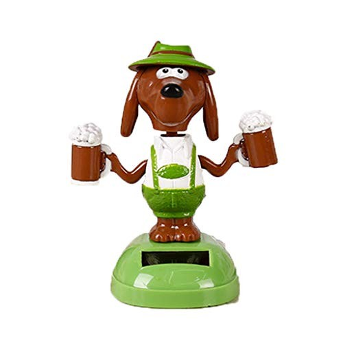 Juesi Solar Powered Dancing Toy Cute Dog Swinging Animated Dancer Car Decoration Bobble Head for Kids K