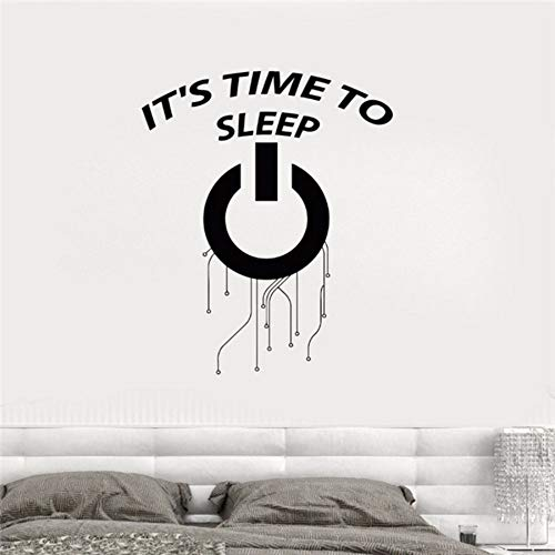 RTFC 42x53Cm It' Time to Sleep Words Wall Sticker Vinyl Decals for Bedroom Removable Living Room Kids Decorate Decal