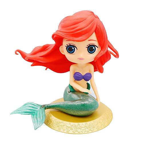 Cute Mermaid Cake Topper Girls Big Eyes Doll Birthday Decoration Party Supplies Gold Base