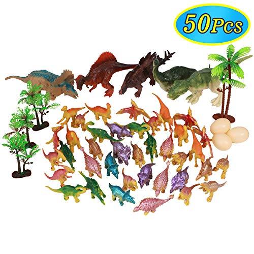 Conomus Birthday Party Favors- Carnival prizes for Kids50PCS Mini Dinosaur Toy Assortment Classroom