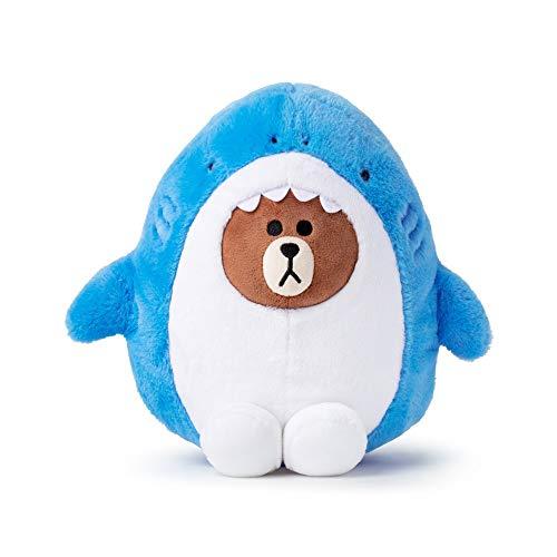 Line Friends Jungle Brown 10 Shark Plush Doll in Costume