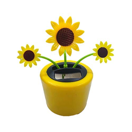 Juesi Solar Powered Flower Animal Dancing Swinging Animated Office Desk Window Dancer Toy Car Windowsill Decoration Novelty Action Figuers Toys Birthday Gift for Kids Adults