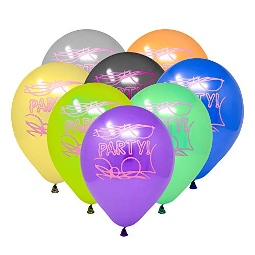Glow Party Balloons Kids Birthday Latex Favors 24 Pieces