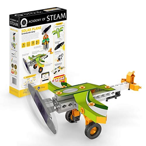 Engino – Academy of Steam Toys Solar Plane Harnessing Energy STEM Building Toy & Learning Activities Experiments Perfect for Home Multi STEAMxF11