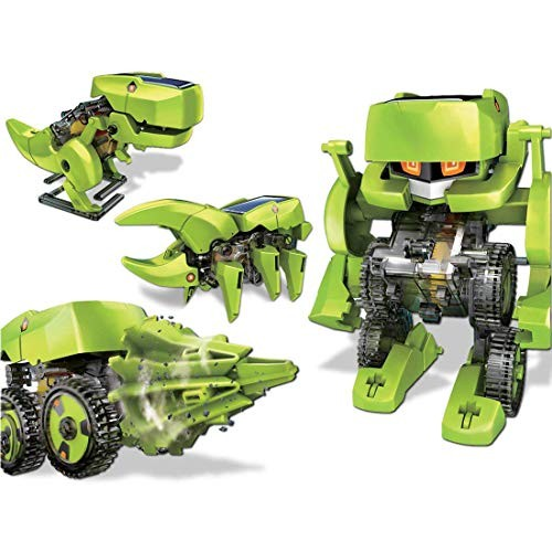 Lingxuinfo DIY Robot Kit 4 in 1 Transforming Solar Drilling Machine Dinosaur Insect Toy for Kids STEM Educational Science Toys