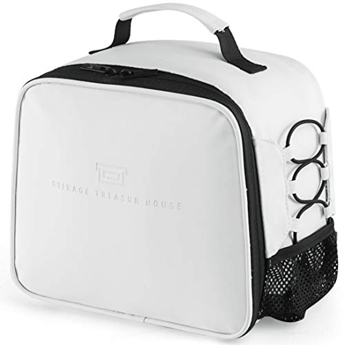 Lunch Box Insulated Bag for Men Women Leakproof Thermal Reusable Tote Adult Cooler Office Work Outdoor Picnic by Soundance White