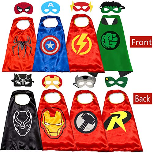 Superhero Capes and for Kids Halloween Cosplay Double Side Toy Best Gifts Yellow