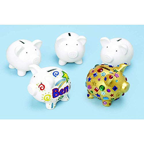 Colorations Decorate a Piggy Bank Kit of 12 Banks for Kids Art Project Renewed