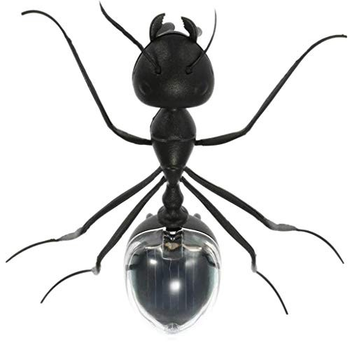 Meidexian888 Solar Powered Black Cute Ant Insect Toy Novelty Educational Gift for Kids