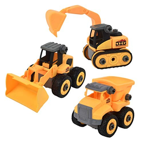 Sunny Days Entertainment Take Apart Construction Vehicle STEM Learning Toy Truck Receive Either The Dump Front End Loader or Excavator Color May Vary Maxx Action