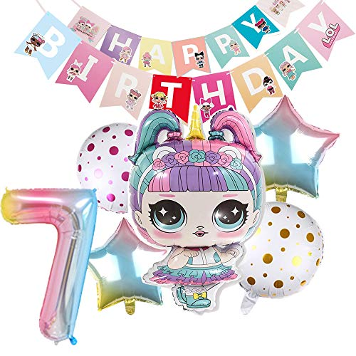 LOL Party's Balloons for Chrildren Surprise Birthday Balloon Bouquet Decorations Doll Banner Chirldrens Party