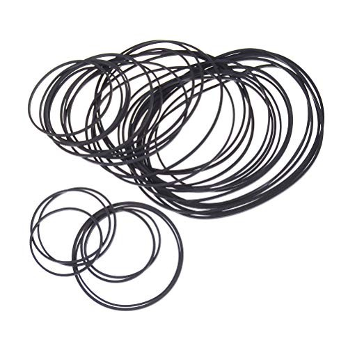 1Pack Engine Drive Belts for DIY Toy Module Car 30mm to 120mm Dia Black Rubber Small Fine Pulley Pully Belt Hot
