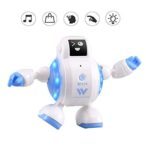 Estinoble Robot Toys Smart Robots for Kids with Record Talkback Touch Sensitive Emotion Expressions Change and Midi Musics