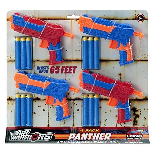 Air Warriors Panther 4-Pack Dart Blaster Set