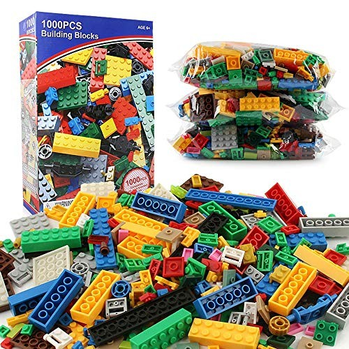 Kids Wooden Building Blocks Children's Toy Set 1000 Piece Block With Carrying Bag Tight Fit And Compatible All Brands For Educational Montessori Color Multi-colored