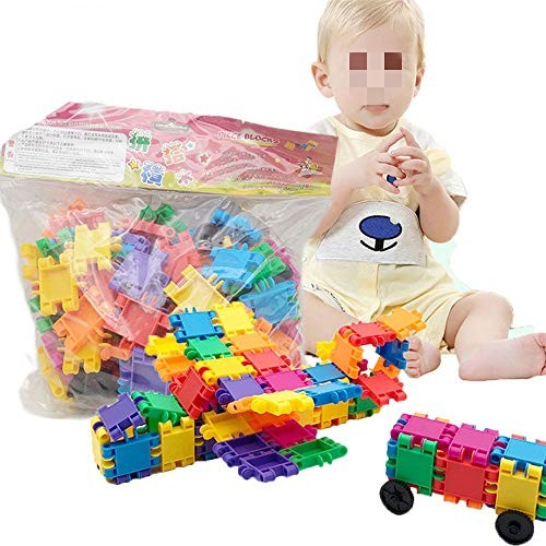 Tuuertge Toy Kids Wooden Building Blocks Creative Construction Fun Kit for Toddlers Educational Toys Color Multi-Colored