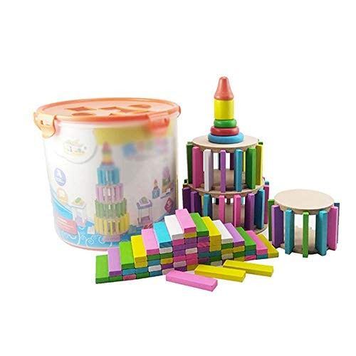 Kids Wooden Building Blocks 125 Pcs Set Developmental Toy For And Children Toddlers Over 3 Years Old Educational Montessori Color Multi-colored Size Free