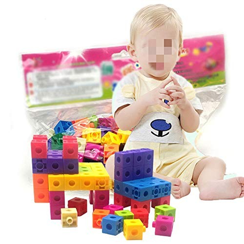 MDYYD Kids Wooden Building Blocks 128 Pcs Bulk Toy Toys for Intelligent Learning DIY Stick Block Ideal Educational Montessori Color Multi-Colored