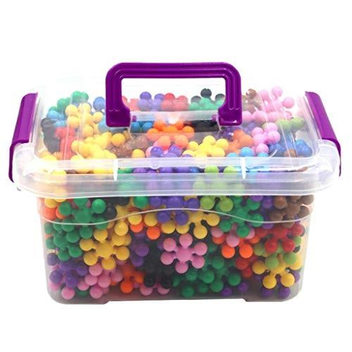 Snowflake Building Blocks Kids STEM Educational Toys – 300 Piece Plastic Interlocking Discs for Preschool Toddler Boys and Girls