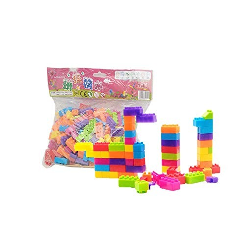 Tuuertge Toy Kids Wooden Building Blocks Creative Construction Toys Classic Bricks for Educational Color Multi-Colored