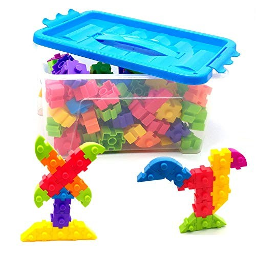 Toy Kids Wooden Building Blocks Educational And Creative Toys 100 Pcs For Toddlers Block Set With Storage Box Ideal