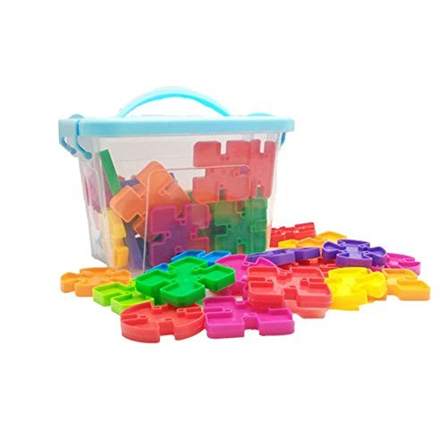 Kids Wooden Building Blocks 85 Pcs Educational And Creative Toys For Intelligent Learning DIY Stick Block With Storage Box Ideal Montessori Toy