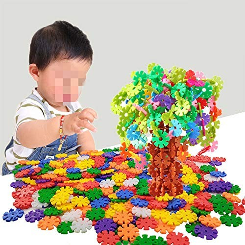 Tuuertge Toy Kids Wooden Building Blocks 160-320PCS Plastic Disc Set Builder with Storage Box for and Toddlers Over 3 Years Old Children Educational Toys