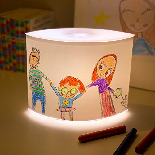 DIY 3-Stage Dimmer Table Lamp – Child Artwork Display NightStand for Bedrooms