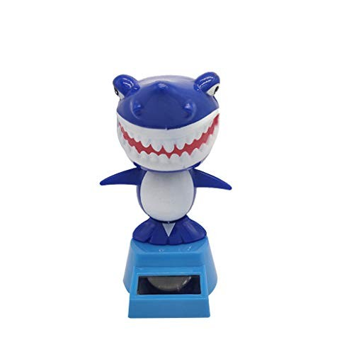 Glumes Dancing Solar Toys – Multicolor Shark Shape Powered Car Accessories Swinging Toy Windowsill Decoration Great Holiday Dashboard Office Desk Home Decor