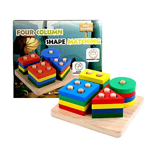 Wooden Educational Preschool Toddler Toys For 1 2 3 4 5 Years Old Girls Boys