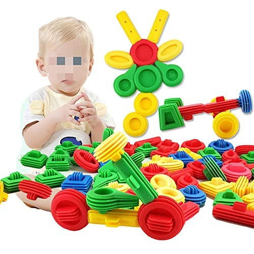 Toy Kids Wooden Building Blocks 65 Piece Toys For Intelligent Learning DIY Stick Block With Storage Box Ideal Educational