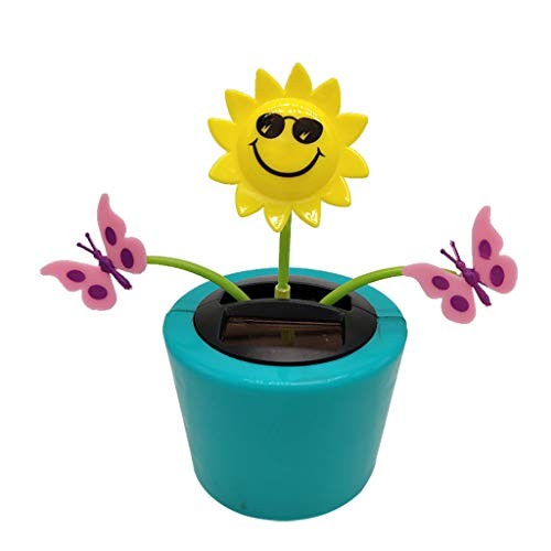 Glumes Dancing Solar Toys – Flower Powered Car Accessories Swinging Toy Windowsill Decoration Great Holiday Dashboard Office Desk Home Decor