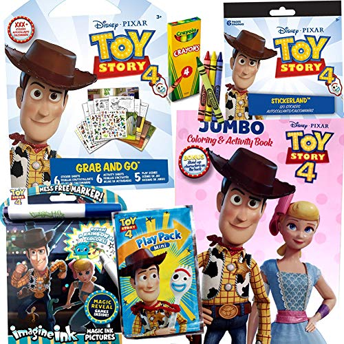 Colorboxcrate Toy Story 4 Coloring Book Set For Girls 6 Pack Includes Activity Books Stickers Crayons And More Children Ages 3 To 8 Educational Toys Planet