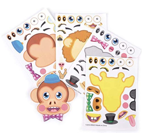 36 Piece Decorate Your Own Zoo Animal Sticker Scenes