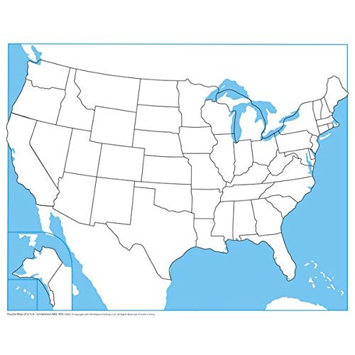 MONTESSORI OUTLET USA Control Map – Unlabeled