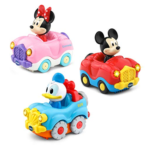 VTech Go Smart Wheels Disney Starter Pack with Mickey Mouse Convertible Minnie and Donald Duck SUV Multicolor
