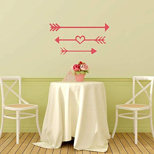 BYRON HOYLE Arrow Decals Decal Vinyl Wall or Window Decor – Decorate Living Room Bedroom Nursery Kids Reception Center Great Valentine's