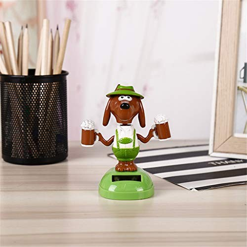 Glumes Dancing Solar Toys – Creative Animal Powered Car Accessories Swinging Toy Windowsill Decoration Great Holiday Dashboard Office Desk Home Decor