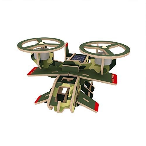xUMING Model Kit P350 Scorpion Aircraft 3D Three-Dimensional Puzzle Solar Wooden Mechanical Suitable for Children Over 6 Years Old