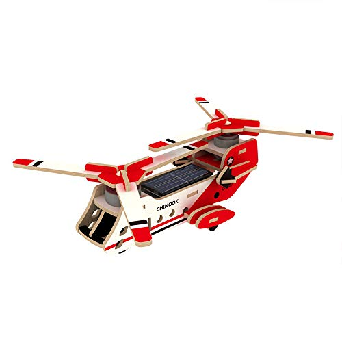 xUMING Model Kit P320 Scorpion Aircraft 3D Three-Dimensional Puzzle Solar Wooden Mechanical Suitable for Children Over 6 Years Old