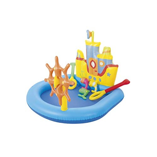 H2OGo! Tug Boat Inflatable Kiddie Pool   Blow Up Pool Summer Toy for Outdoor