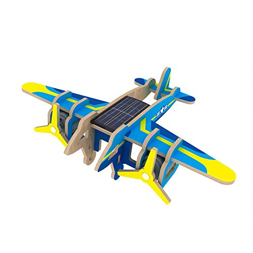 xUMING Model Kit P330 Scorpion Aircraft 3D Three-Dimensional Puzzle Solar Wooden Mechanical Suitable for Children Over 6 Years Old