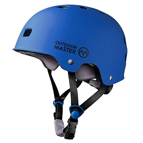 OutdoorMaster Skateboard Cycling Helmet – ASTM & CPSC Certified Two Removable Liners Ventilation Multi-sport